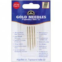 Gold Tapestry Hand Needles-Size 22 4/Pkg