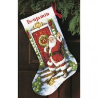 "Welcome Santa Stocking (KIT)-16"" Long 14 Count"