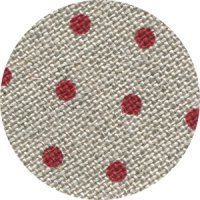 Linen - Belfast Petit Point - 32ct - Raw Natural with Red Points