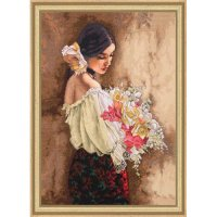 Woman with Bouquet-70-35274