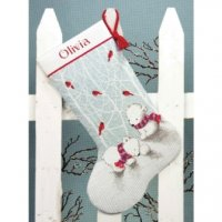 "Snow Bears Stocking (KIT)-16"" Long 14 Count"