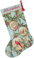 "Enchanted Ornament Stocking (KIT)-16"" Long 16 Count"