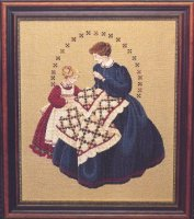 Quiltmaker, lady and child (LL27)