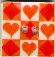 "87027 - Orange Tic Tac Toe 3/4"" x 3/4"" - 1 per pkg"