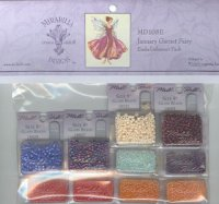 January's Garnet Fairy Embellishment Pack-md108e