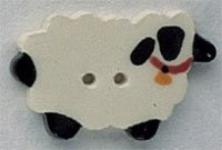 86052 - Sheep With Bell 1 1/8in x 3/4in - 1 per pkg