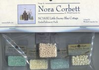 NC163E-Little Snowy Blue Cottage -Embellishment Pack