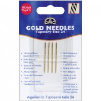 Gold Tapestry Hand Needles-Size 24 4/Pkg