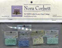 NC160E-Little Snowy Gray Cottage -Embellishment Pack
