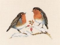 Winter Robins by Valerie Pfeiffer - Harmony