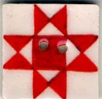 "87005 - Red Ohio Star 3/4"" x 3/4"" - 1 per pkg"