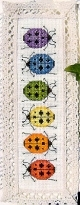 Rainbow Ladybugs Bookmark