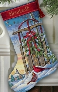 Christmas Sled Stocking -- 08819