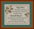 Big Men & Small Boys, saying