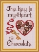 Key To My Heart(3/pk w/chm), saying