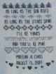 Wedding Sampler, sayings