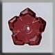 12009 - 5 Petal Dim Flower Ruby 10mm - 1 per pkg