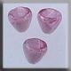 12030 - Small Bell Flower Marbled Rose 7mm - 3 per pkg