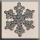 12037 - Medium Snowflake Crystal Bright 16mm - 1 per pkg