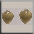 12075 - Very Sm Domed Heart Matte Gold 8mm - 2 per pkg