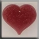12115 - Large Floral Embossed Heart Rose 24/21mm - 1 per pkg