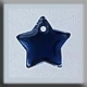 12173 - Small Flat Star Royal Blue 9mm - 1 per pkg