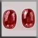 12256 - Olive Bead Red Luster 8/6mm - 2 per pkg