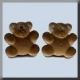 12298 - Very Petite Teddy Bear  - 2 per pkg