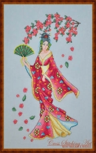 Sakura Blossom, Cross Stitching Art