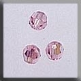 13021 - Round Bead Light Rose AB 4mm - 3 per pkg