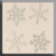 15001 - White Metal Snowflake 10mm - 4 per pkg