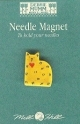 43125-Gold Quilt Cat, Needle magnet