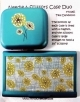 Needle & Scissors Case Duo - Teal Dandelion