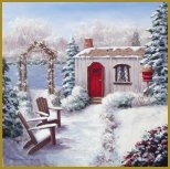 Winter Cottage - Mystic Stitch