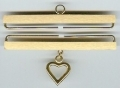 3518 - Brass - Satin Finish with Heart 8cm (3in)