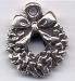 STCP182 - Christmas Wreath (Sterling) - Charm