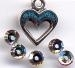 STCP223 - Heart & Crystal Clear Paillettes - Charm