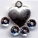 STCP251 - Tiny Puffed Heart Paillettes - Charm