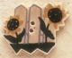 43007 - Picket Fence with Sunflower - 1in x 3/4in