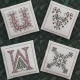 Alphabet Ornaments Six - UVWX - DR239