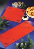 Christmas Red Hardanger Table Runner - (KIT#633675)