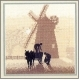 Windmill - Silhouettes by Phil Smith - Heritage Stitchcraft #HCK