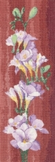 Freesia Panel by John Clayton - Flower Panels - Heritage Stitchc
