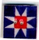 "87001 - Patriotic Ohio Star 3/4"" x 3/4"" -  1 per pkg"