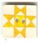 "87002 - Yellow Ohio Star 3/4"" x 3/4"" -  1 per pkg"
