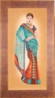 Indian Lady in Blue Sari - (KIT)