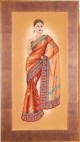 Indian Lady in Orange Sari - (KIT)