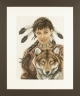 Indian Girl with Wolf - (KIT)
