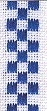MH08070123 - Checkers Ribbon Antique White / Royal Blue 27ct St.