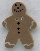 86002 - Gingerbread Man 7/8in x 1 1/4in -  1 per pkg